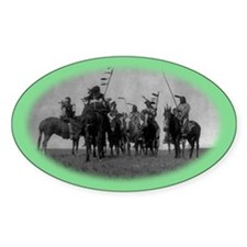 Atsina Warriors (Gros Ventre) Oval Decal