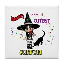 Cutest Witch Tile Coaster