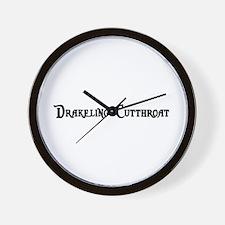 Drakeling Cutthroat Wall Clock