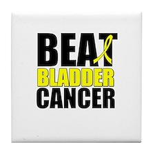 Beat Bladder Cancer Tile Coaster