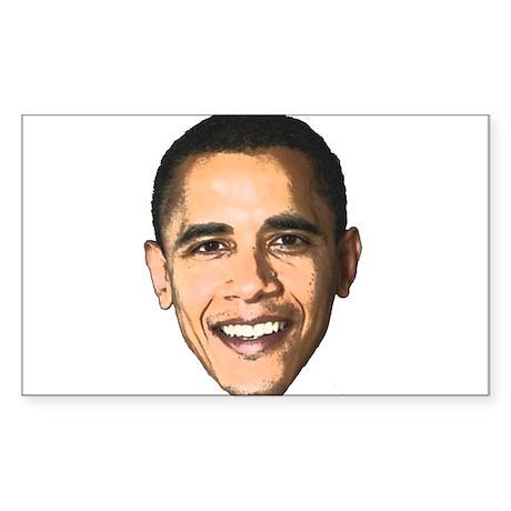 Obama Picture Rectangle Sticker