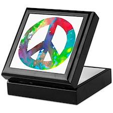 Peace Sign Keepsake Box
