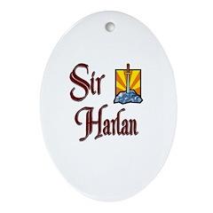 Sir Harlan Oval Ornament