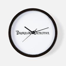 Drakeling Detective Wall Clock