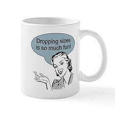 Dropping Sizes Mug