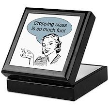 Dropping Sizes Keepsake Box