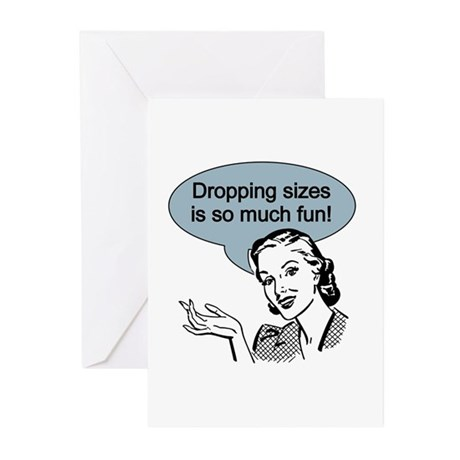 Dropping Sizes Greeting Cards (Pk of 10)