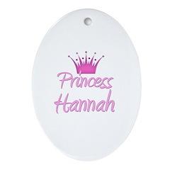 Princess Hannah Oval Ornament
