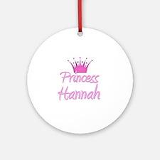 Princess Hannah Ornament (Round)