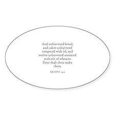 EXODUS 29:2 Oval Decal