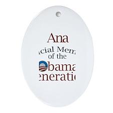 Ana - Obama Generation Oval Ornament