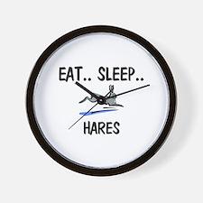 Eat ... Sleep ... HARES Wall Clock
