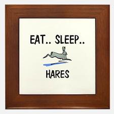 Eat ... Sleep ... HARES Framed Tile