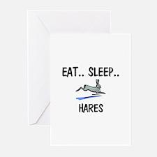 Eat ... Sleep ... HARES Greeting Cards (Pk of 10)
