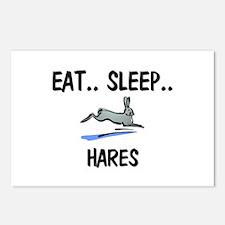 Eat ... Sleep ... HARES Postcards (Package of 8)