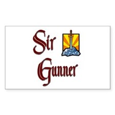 Sir Gunner Rectangle Decal
