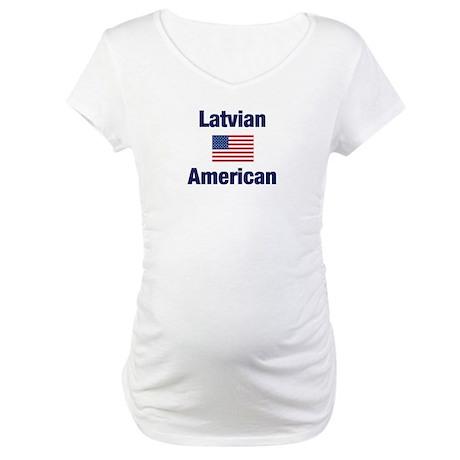 Latvian American Maternity T-Shirt