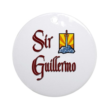 Sir Guillermo Ornament (Round)