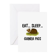 Eat ... Sleep ... GUINEA PIGS Greeting Cards (Pk o