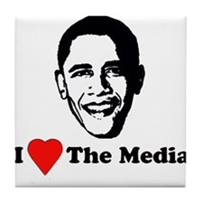 I Love the Media Tile Coaster