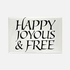 Happy Joyous & Free Rectangle Magnet (10 pack)