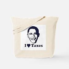 I Love Taxes Tote Bag