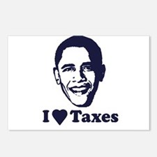 I Love Taxes Postcards (Package of 8)