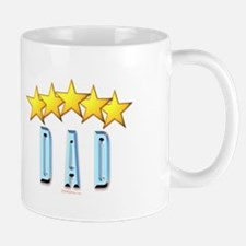 5 Star Mugs #1 with crown Dad Mug