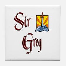Sir Greg Tile Coaster
