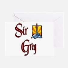Sir Greg Greeting Card