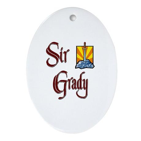 Sir Grady Oval Ornament