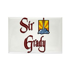 Sir Grady Rectangle Magnet (10 pack)