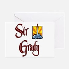 Sir Grady Greeting Card
