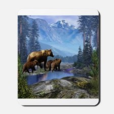 Mountain Grizzly Bears Mousepad
