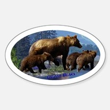 Mountain Grizzly Bears Decal