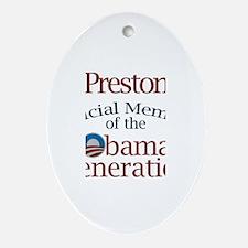 Preston - Obama Generation Oval Ornament