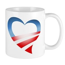 Obama Heart Logo Mug