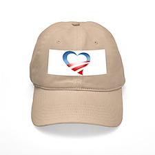 Obama Heart Logo Baseball Cap