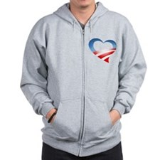 Obama Heart Logo Zip Hoodie