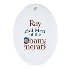 Ray - Obama Generation Oval Ornament
