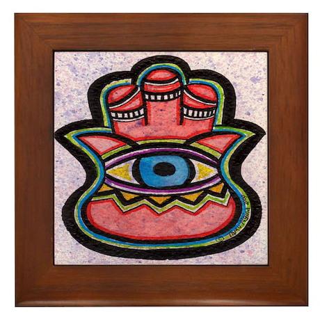 Energy Hamsa Framed Tile