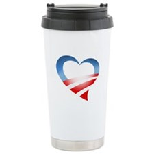 Obama Heart Logo Travel Mug