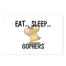 Eat ... Sleep ... GOPHERS Postcards (Package of 8)