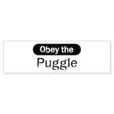 Obey the Puggle Bumper Car Sticker