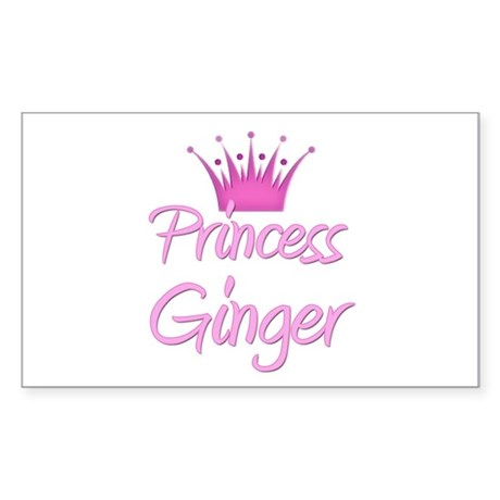 Princess Ginger Rectangle Sticker