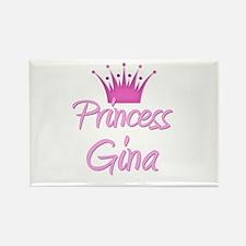 Princess Gina Rectangle Magnet