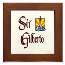 Sir Gilberto Framed Tile