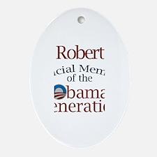 Robert - Obama Generation Oval Ornament