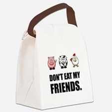 Don't Eat My Friends Canvas Lunch Bag