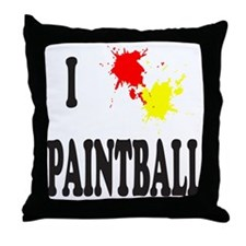 PAINTBALL Throw Pillow